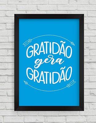 QUADRO DECORATIVO FRASES GRATIDÃO GERA GRATIDÃO