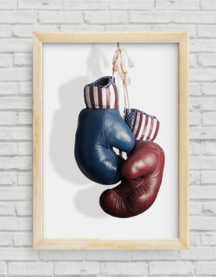 QUADRO DECORATIVO JUVENIL BOXING GLOVES