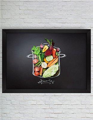 Quadro Decorativo Alimento Saudável na Lousa