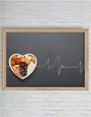 Quadro Decorativo Alimento Saudável Igual a Batimentos