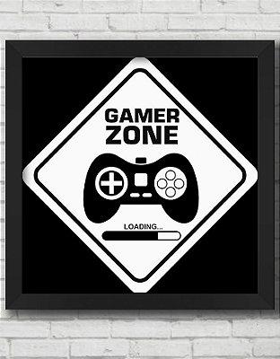 QUADRO DECORATIVO GAMER ZONE
