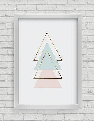 Quadro Decorativo  Geométrico Triângulos