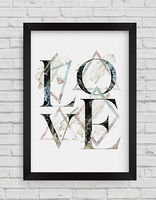 Quadro Decorativo Love Geométrico