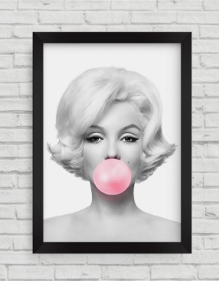 Quadro Decorativo Marilyn Monroe Bola de Chiclete