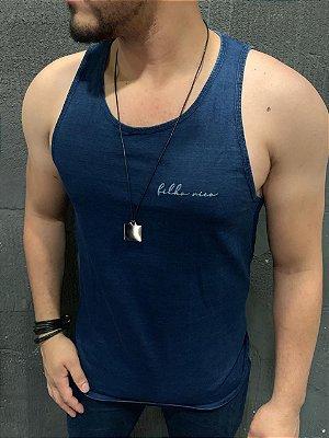 Camiseta Filho Rico Regata - Azul Jeans