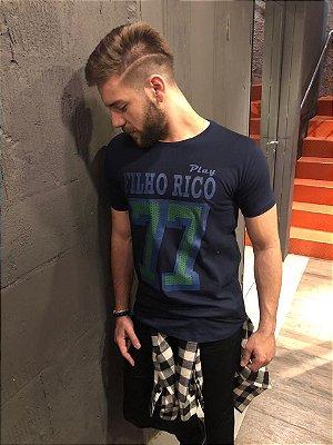 Camiseta Filho Rico Gola O - Estampa 77