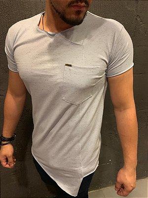 Camiseta Filho Rico - Corte Assimétrico Verde