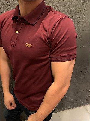 Camiseta Filho Rico Gola Polo - Marsala