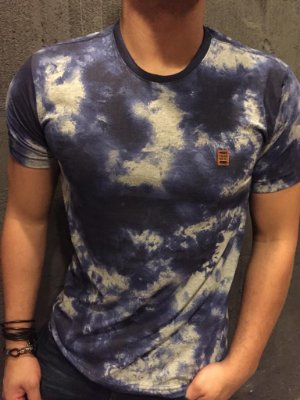 Camiseta Filho Rico Gola O - Azul
