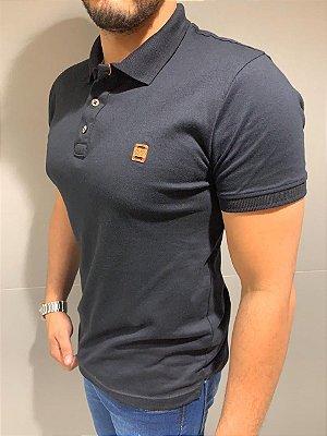 Camiseta Filho Rico Gola Polo Muscle azul