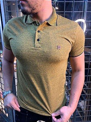 Camiseta Polo Premium Filho Rico - Melange amarelo