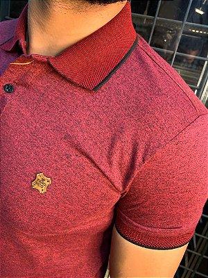 Camiseta Polo Premium Filho Rico - Melange Rosa