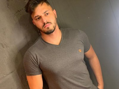 "Camiseta Melange Gola ""V"" Filho Rico - Chumbo"
