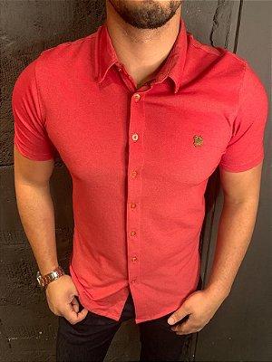 Camisa Confortflex de botão - Filho Rico - Vermelha