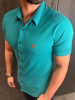 Camisa Confortflex de botão - Filho Rico - Verde