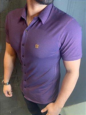 Camisa Confortflex de botão - Filho Rico - Roxo