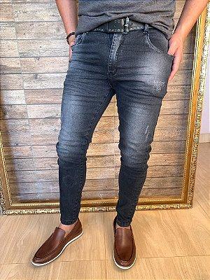 Calça Jeans Corte Italiano Filho Rico Skinny - Black