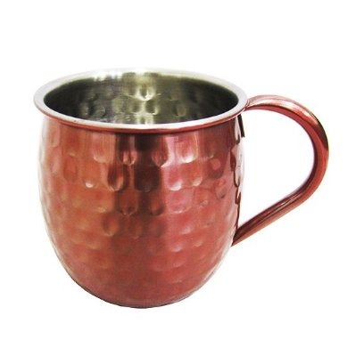 Caneca Rose Moscow Mule Martelada Inox 500ml Drinks