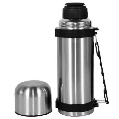 Garrafa Térmica Dupla Camada de Aço Inox Com Alça Para Bebida Quente e Fria