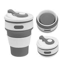 Copo Sustentável Ecológico Retrátil Reutilizável de Silicone Un Cores Sortidas - 350ml