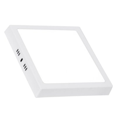 Plafon LED Sobrepor Retangular 6500K SOB Branca Quad Bivolt - 01 Unidade