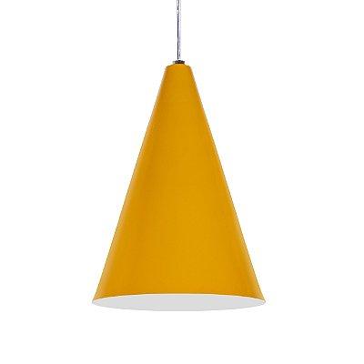 Luminária Alumínio Modelo Cone Design Moderno Com Cabo e Canopla Redonda - 01 Unidade
