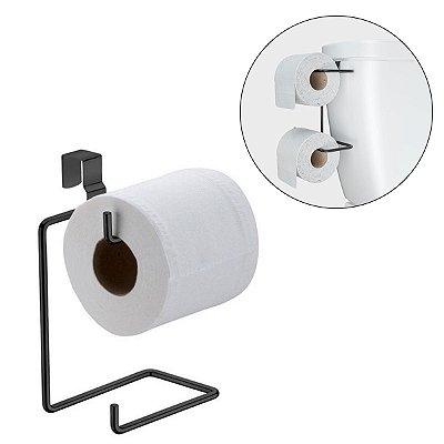 Porta Papel Higiênico Duplo para Acoplar Na Caixa Descarga Linha Black