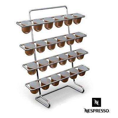 Porta Capsulas Nespresso Pra 24 Cápsulas Aço Cromado Prático