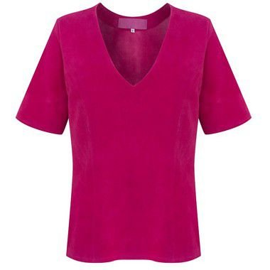 T-Shirt Couro e Chamois Márcia