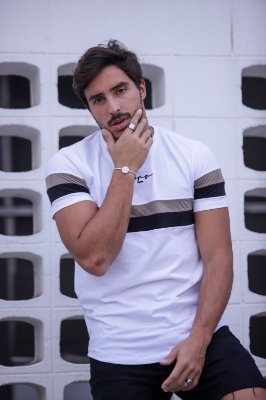 Camiseta Striples Black And Brown