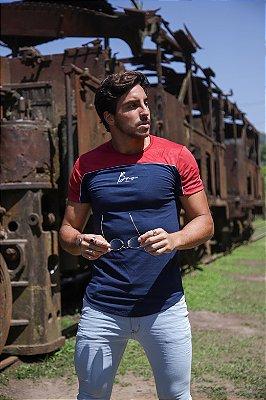 Camiseta Recortes Wine And Blue