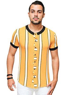 Camisa Slim Brothers Mostard
