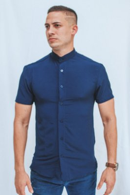 Camisa Gola Padre Blue Brothers