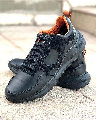 Tênis Sneaker Brothers preto solado tesla