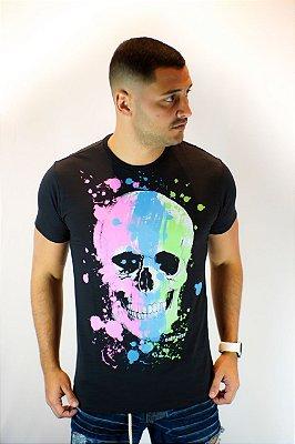 Camiseta Brothers Skull Neon