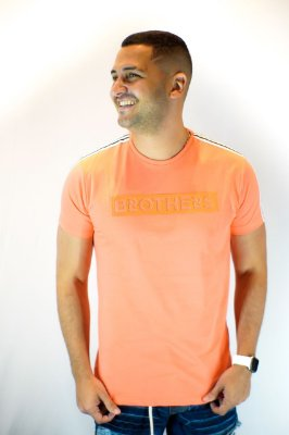 Camiseta Brothers Neon Orange