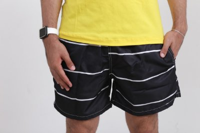 SHORT BLACK WITH STRIPE
