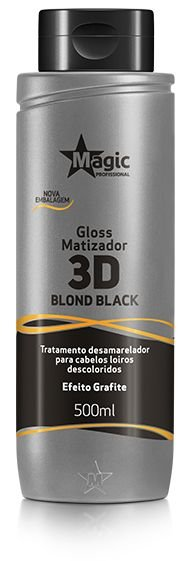 Gloss Matizador 3D Blond Black Efeito Grafite 100ml - Magic Color