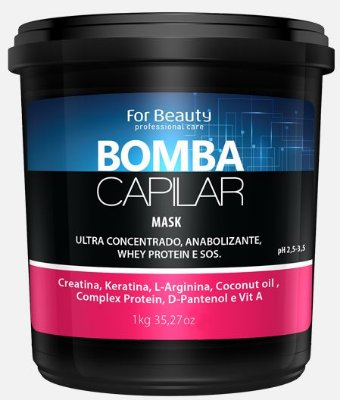 Máscara Bomba Capilar 1kg - For Beauty