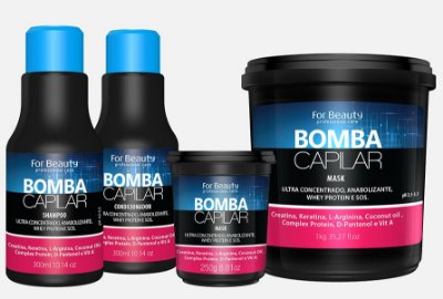 Bomba Capilar Kit 3 itens - For Beauty
