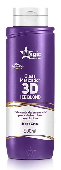 Gloss Matizador 3D Ice Blonde Efeito Cinza 500ml - Magic Professional