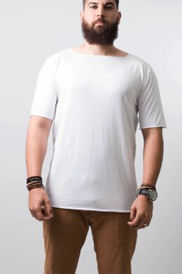camiseta oversized barra reta