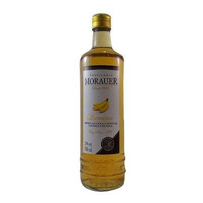 Cachaça de Banana Aguardente composta Morauer - 700ml.