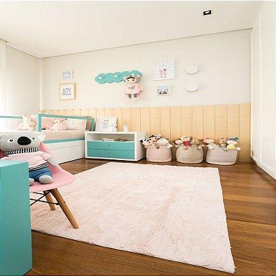 Tapete Infantil 1,20cm X 1,60cm Lorena Canals Trança Soft Rosa