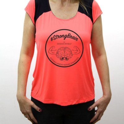 Camiseta #StrongBrain Feminina