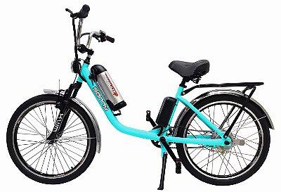 Bicicleta Elétrica Sonny 350w com Bateria de Lítio - Verde promoção