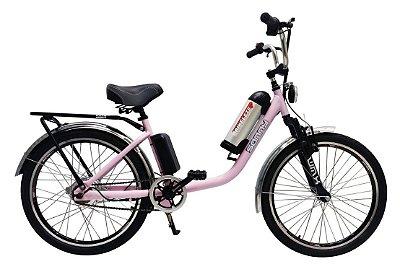 Bicicleta Elétrica Sonny 350w com Bateria de Lítio - Rosa
