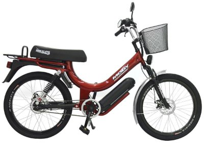 Bicicleta Elétrica Mobilete MOBY+ 350w aro 24 bikelete - Vermelho