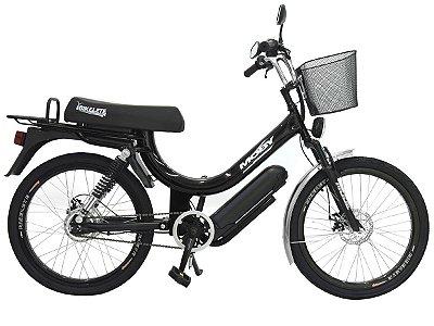 Bicicleta Elétrica Mobilete MOBY+ 350w aro 24 bikelete - Preto