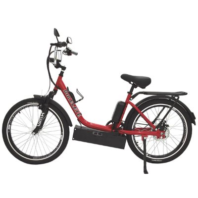 Bicicleta Elétrica Sonny Farol de LED - Vermelho